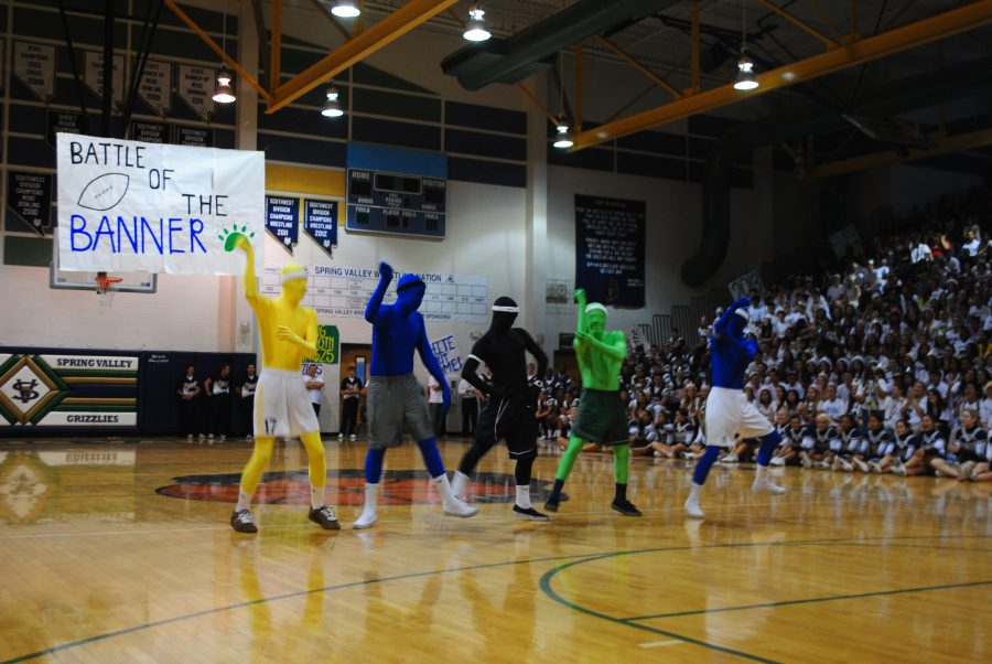 The Morph Men performing at the Welcome Back Assembly