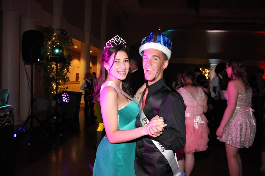 Gabby Flores and Joey Padfield were crowned Prom Queen and King.