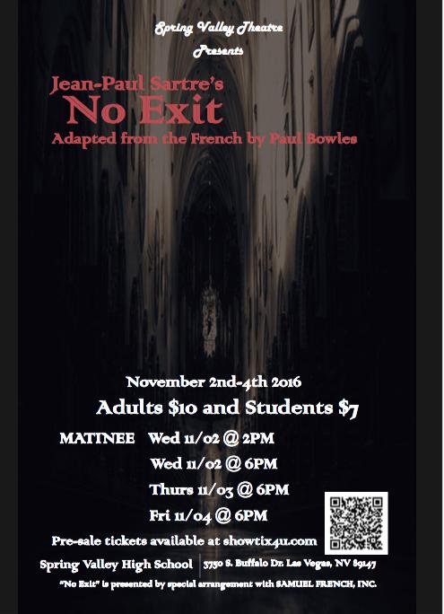 Theatre+prepares+for+first+drama%2C+%E2%80%98No+Exit%E2%80%99