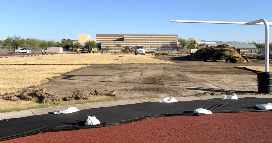 Current Football Field Being Replaced With New, Turf Field
