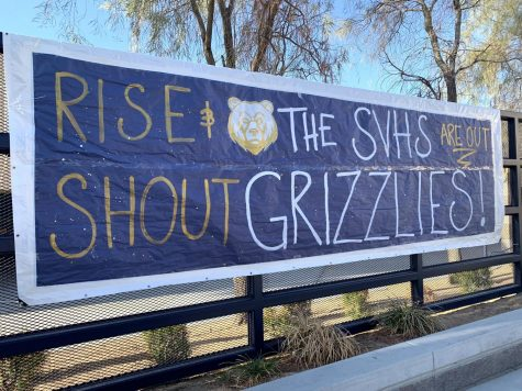 Poster displayed in the Spring Valley High School quad. Photo courtesy: twitter.com/GrizzliesSVHS