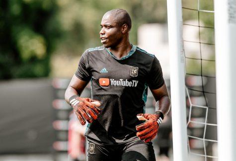 Las Vegas Lights FC goalkeeper Phillip Ejimadu