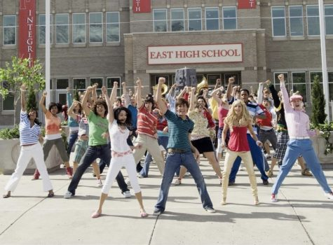 """Characters from the DCOM """"High School Musical 2"""" celebrate summer vacation with a musical number."""