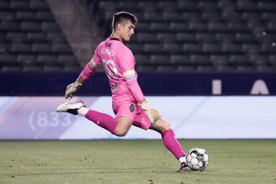 Las Vegas Lights FC goalkeeper Tomas Romero