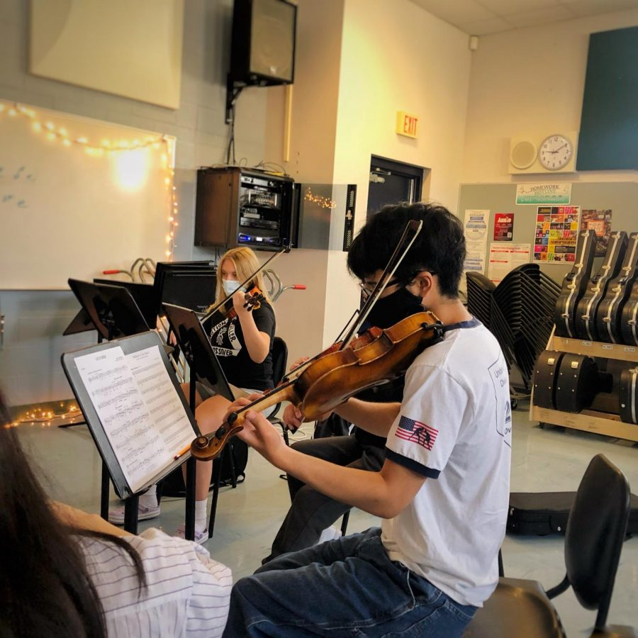 Orchestra Practices During Summer Enrichment
