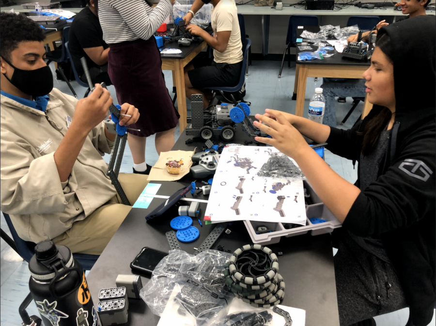 Robotics Works on their Projects During Summer Enrichment