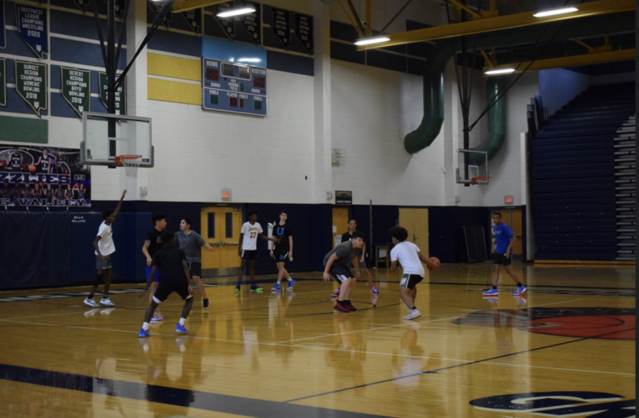 The Basketball Team Practices During Summer Enrichment