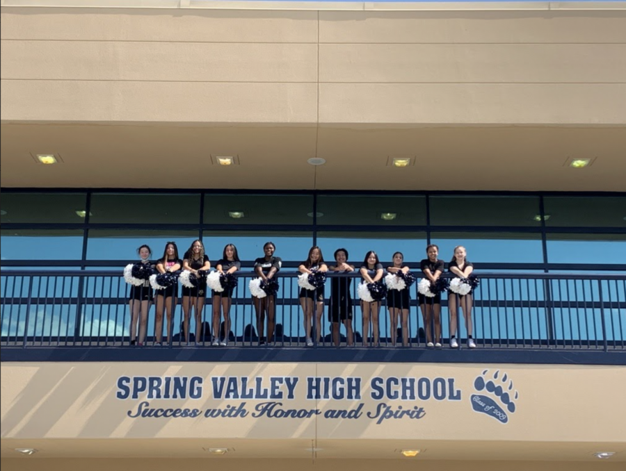 The Cheer Team Practices During Summer Enrichment