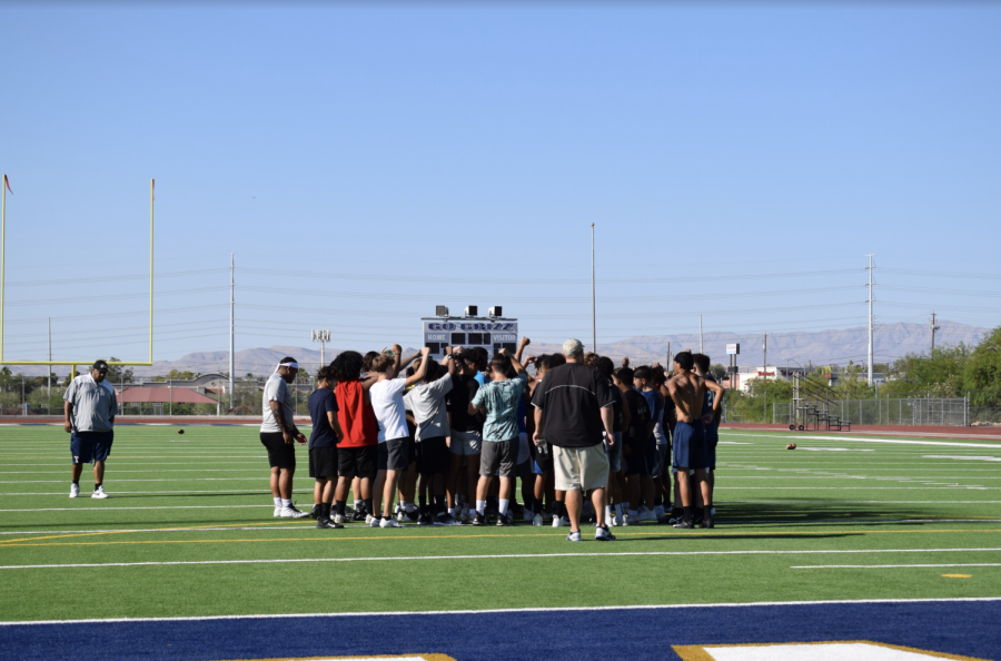 The Football Team Practices During Summer Enrichment