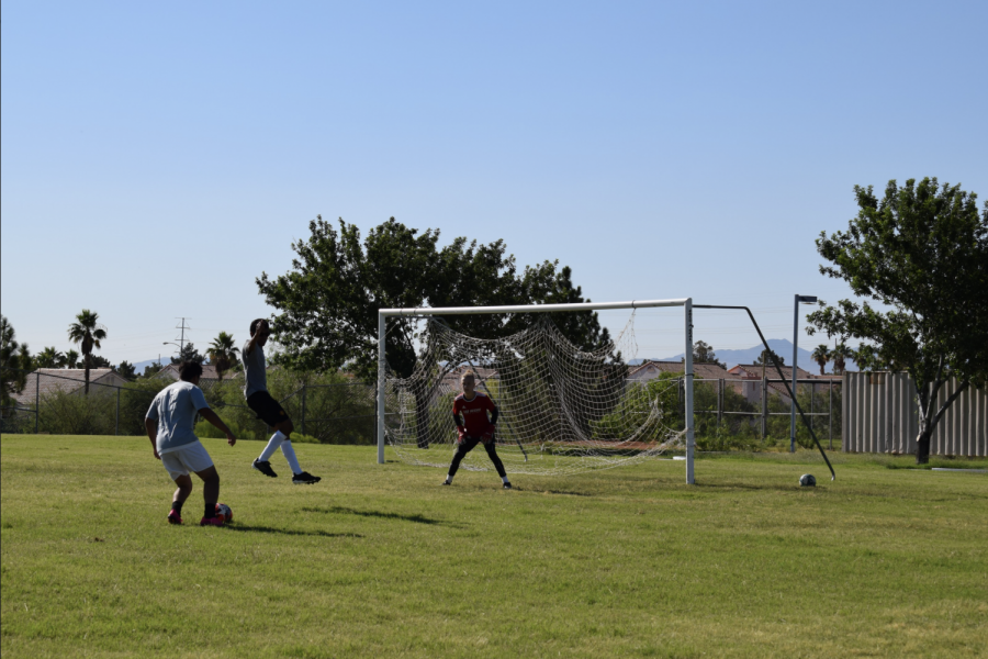 The Soccer Team Practices During Summer Enrichment