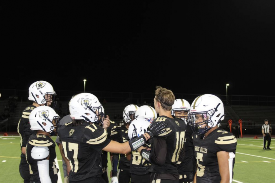 Spring Valley Varsity Football during a home game. (2021 Season)